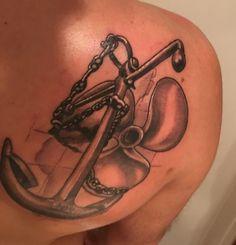Anchor & Propeller tattoo #Propeller #Anchor #Tattoo
