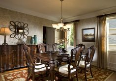 The Dining Room in The Elmwood Plan at Laurel Heights in Suwanee
