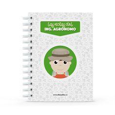 Cuaderno - Las notas del ingeniero agrónomo, encuentra este producto en nuestra tienda online y personalízalo con un nombre. Notebook, Engineer, Cell Phone Wallpapers, Notebooks, Report Cards, Store, The Notebook, Exercise Book