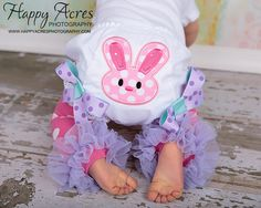 Easter Bunny Bloomers Pink Aqua Lavender Girl Easter by whimsytots, $23.00