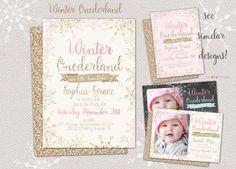 Winter ONEderland Invitation Winter Wonderland Invitation Winter