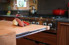 Kitchen Design Built In Cutting Board