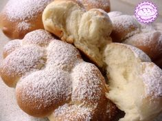 Brioche only with the whites. Italian Desserts, Mini Desserts, Italian Recipes, Croissants, Sweet Light, Cooking Time, Cooking Recipes, My Favorite Food, Favorite Recipes