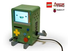This is a functional Linux computer BMO made by Michael Thomas out of LEGO blocks and a Raspberry Pi circuit board.