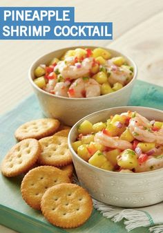 Put a summertime spin on a classic with this Pineapple Shrimp Cocktail recipe. Italian dressing makes a quick and easy marinade while fresh cilantro adds a bright finish to this appetizer!