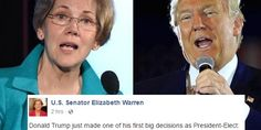 Middle-class champion Senator Elizabeth Warren (D-MA) took to Facebook tonight to express her horror at the appointment of Breitbart editor and fascist propagandist Steve Bannon to a prestigious White House position.