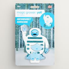 Grow your own adorably abominable snowman in just six hours with this cool kit. Simply assemble the cardboard pieces, pour the magical liquid into the base and watch your furry friend take shape.