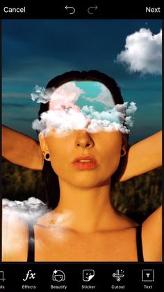 Who says having your head in the clouds is a bad thing? 🌀🌤✨ videos background How To Create A Surreal Cloud Eye Edit 👁🌤 Self Photography, Creative Portrait Photography, Photoshop Photography, Photography Hacks, Emotional Photography, Creative Instagram Photo Ideas, Instagram Photo Editing, Head In The Clouds, Picsart Tutorial