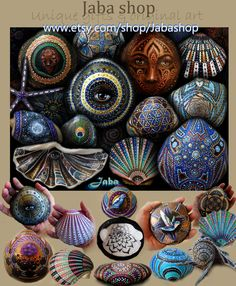 Unique handpainted oceanshells by Jaba This week special discount for this pinterestgroupboard: 30% discount on all items(shells and original canvas) Use couponcode: PINBOARDDISCOUNTJABA https://www.etsy.com/shop/Jabashop Find out which ones are still available by clicking on the picture