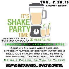 52 Best Shake Party Images In 2016 Herbalife Nutrition Healthy