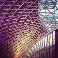 King's cross London, impressive roof by shahpour, via Flickr