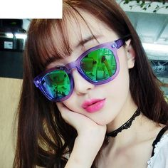 Find More Sunglasses Information about 2015 NEW Brand Mirror Silver Sunglasses Clear Purple Sun Glasses For Women Round Sunglasses Reflective Colorful Lens,High Quality Sunglasses from Fashion Shopping Made Fun on Aliexpress.com