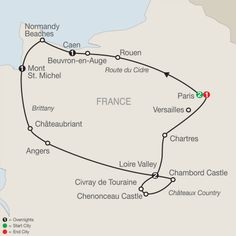 normandy d day tour map