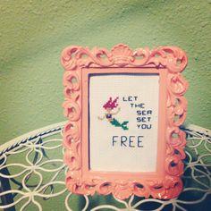 Let the sea set you free. #crossstitch #mermaid