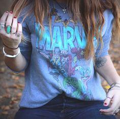 Marvel Women, T Shirts For Women, Blouse, Tops, Fashion, Moda, Fashion Styles, Blouses, Fashion Illustrations