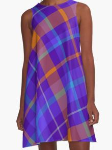 Diagonal Plaid A-Line Dress  by Scar Design #summerclothing #summervacationsdress #beachdress #beach #summerfashion #giftsforher #gifts #giftsforteens #summergifts #womensfashion #hipster #colorful #style #swag #sunset #sunsetdress #dress #summerdress #summer2016 #buydress #Alinedress #buydresses