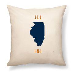 Thirty one pillow. Illinois. Illini.