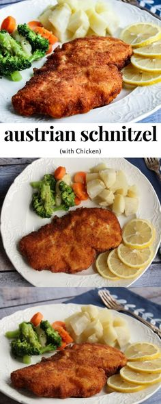 Austrian Schnitzel (with Chicken)  recipe is an easy chicken dinner recipe the whole family will love and ready in less than 30 mins! #easyrecipe #dinnerrecipe #chickenrecipe