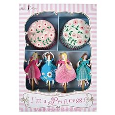 Im a Princess Cupcake Wrappers Picks Kit 24 Toppers Meri Meri Tangled Braid -- To view further for this item, visit the image link.