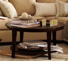 #potterybarn.com          #table                    #Metropolitan #Round #Coffee #Table                 Metropolitan Round Coffee Table                                               http://www.seapai.com/product.aspx?PID=205866