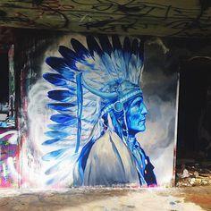 Native American by Reinier Gamboa at Miami Marine Stadium