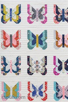 Quilt from: Charm School, 18 Quilts from squares Madame Butterfly in Charm School by Vanessa Goertzen Quilting tips and inspiration Charm Pack Quilt Patterns, Charm Pack Quilts, Charm Quilt, Patch Quilt, Quilt Blocks, Quilting Tips, Quilting Designs, Modern Quilting, Quilting Fabric