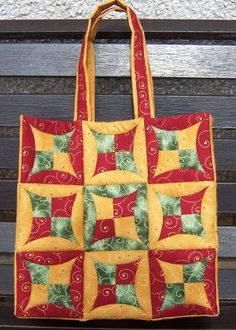 Mums Japanese folded patchwork bag