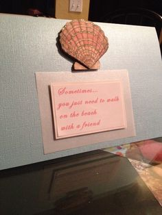 Seashell friendship card by emdesigns