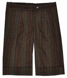 Bcbg Womens Bermuda Walking Casual Shorts - Brown -