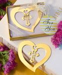 Heart and Cross Bookmark Favors - our most inexpensive and fun baby shower favors are perfect for your big day! http://www.favorfavorbaby.com/c-cheap-favors.htm?Sort_By=price_asc