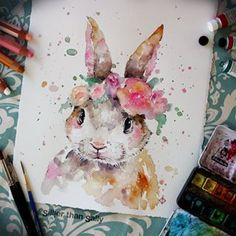 Mixed Media & Watercolour Artist.  If reposting or using my art for inspiration please credit @sillierthansally |     SillierThanSally.comArt Prints: