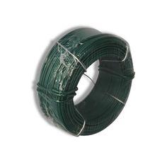 3Q Green Metal Gardening Wire Garden Fencing Wire Florist PVC Coated Wire 3qmart
