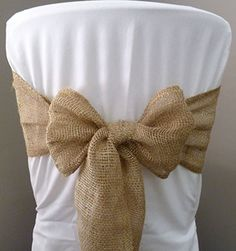 ... , boho or vintage theme? This burlap chair sash is perfect for you