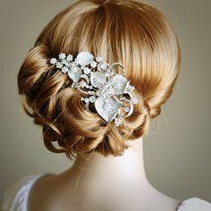 beautiful hairpiece http://cyprusluxurydestinations.com #weddingplanner #northcyprus #travel #weddinghair #apartments #villas #honeymoon #weddings