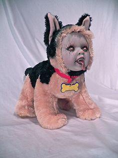 OOAK Krypt Kiddies Halloween Plush Goth Horror Zombie Demon Reborn Doll Evil | eBay