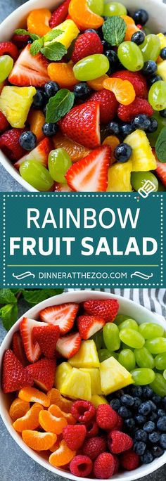 Rainbow Fruit Salad | Easy Fruit Salad | Healthy Fruit Salad #fruit #salad #healthy #dinneratthezoo