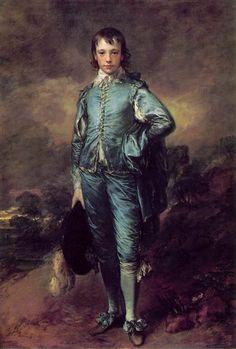 The Blue Boy (Portrait of Jonathan Buttall) - Thomas Gainsborough, c. 1770. Huntington Library, California.