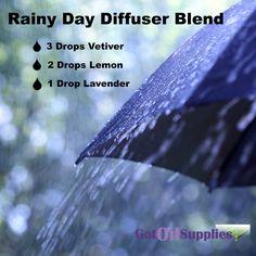 Rainy Day Diffuser Essential Oil Aromatherapy Diffuser Blend - GotOilSupplies.com
