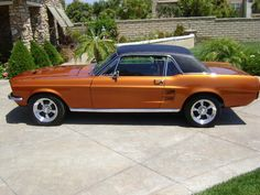 1967 Convertible Ford Mustang.  My  husband is restoring ours.  It is this same color.  Hope is looks this good when finished.