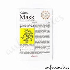 Ariul 7 days mask green tea Korean Face Mask, Peach And Lily, Skin Care Masks, Mini Facial, Best Masks, My Tea, Korean Skincare, Active Ingredient, Glowing Skin