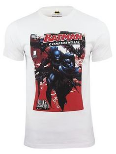 #Batman tm & dc #comics t-shirt 'confidential' by french #connection/ fcuk,  View more on the LINK: http://www.zeppy.io/product/gb/2/391372678465/