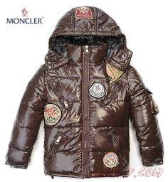 2013 New Moncler Vestes Enfants MARRON