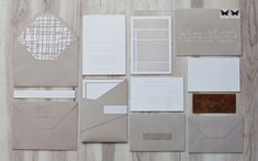 Sonoma Wedding Suite-so fun seeing my wedding suite pinned! Grey Wedding Invitations, Letterpress Invitations, Wedding Stationery, Invitation Set, Invitation Design, Stationary Design, Wedding Prints, Minimalist Wedding, Wedding Paper