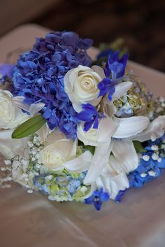 Blue and white flowers Wedding Flowers, Wedding Stuff, Wedding Ideas, Lavender Blue, Grad Parties, Amazing Flowers, Some Pictures, Color Combos, White Flowers