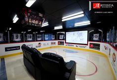 I'm so doing a kings version of this when Kev and I get married and get out own place! This would be an INCREDIBLE surprise Man-Cave that I would for sure make him share with me!!! IN LOVE!