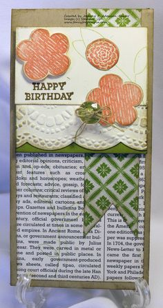 Stampin' Up! Happy Birthday Raining Flowers