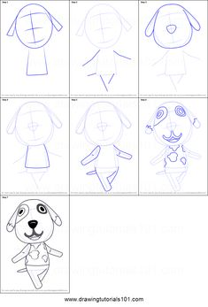How to Draw Bones from Animal Crossing step by step printable drawing sheet to print. Learn How to Draw Bones from Animal Crossing Beginner Drawing, Drawing For Beginners, Drawing Tutorials, Animal Crossing Fan Art, Animal Crossing Characters, Art Drawings For Kids, Animal Drawings, Cute Corgi Puppy, Room Crafts