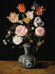 Flowers In A Chinese Vase  Jan Brueghel the Elder