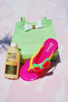 #Garnier #Flip Flops  Yfantidis slippers styled by thinkpink-thinkbig wwwthinkpink-thinkbig.blogspot.com