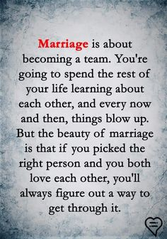 Why wait until marriage? Why not become a team from the start? Marriage shouldn't change the love shared. Through thick and thin from the start. Marriage Relationship, Happy Marriage, Love And Marriage, Strong Marriage Quotes, Relationships, Marriage Advice Quotes, Marriage Goals, Quotes To Live By, Me Quotes